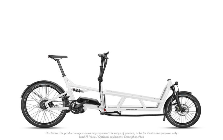 Riese and Muller Load 75 Vario White - Propel E-Bikes