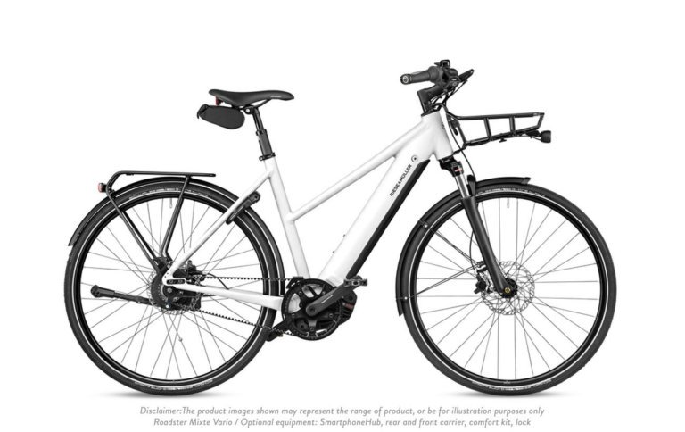 Riese and Muller-Roadster Mixte Vvario Crystal White - Propel E-Bikes